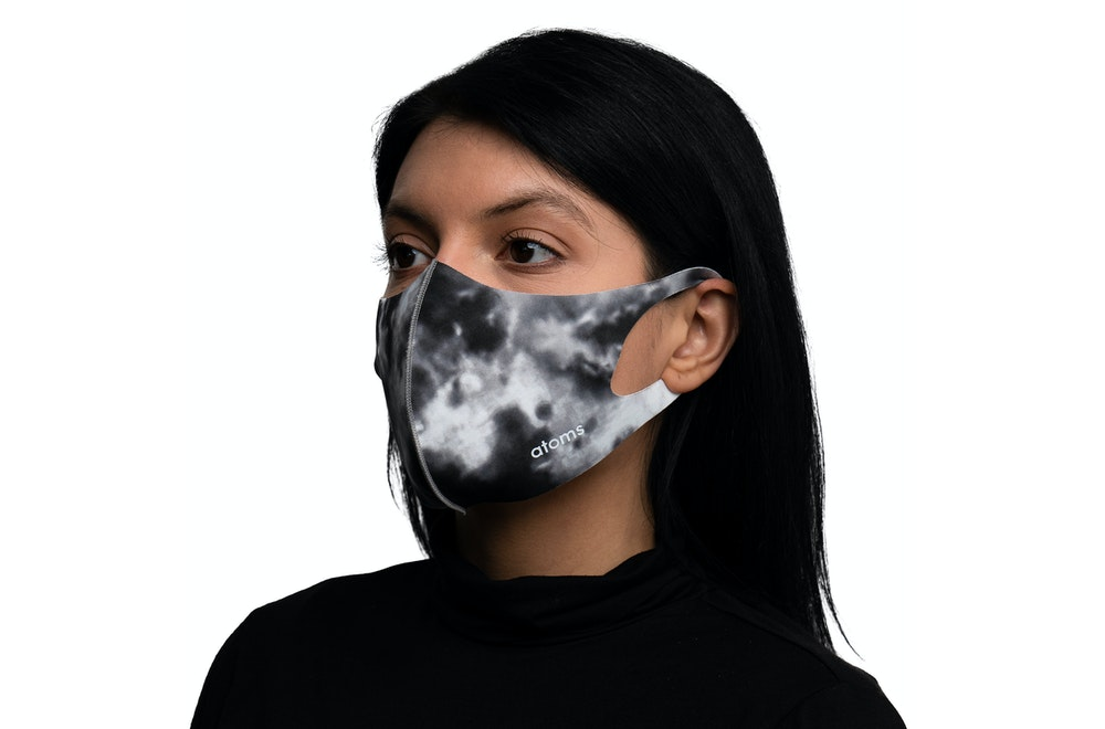 Atoms Everyday Mask Tie Dye Gray Front