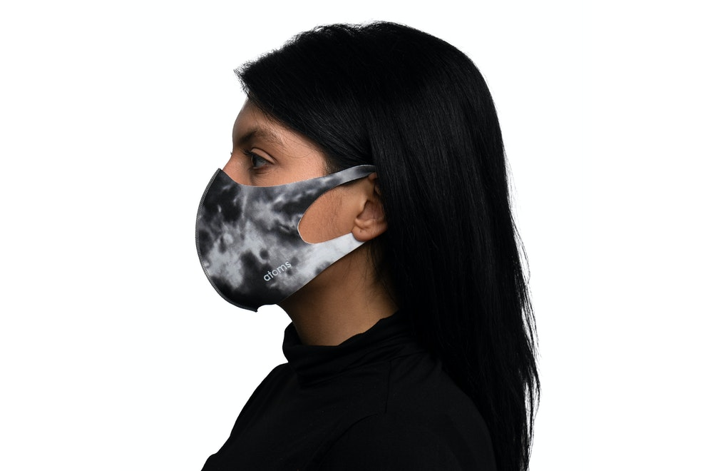 Atoms Everyday Mask Tie Dye Gray Side