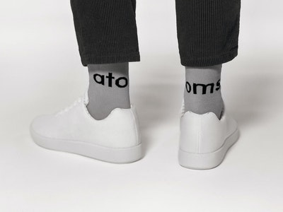 Atoms Crew Socks - Large logo - Gray